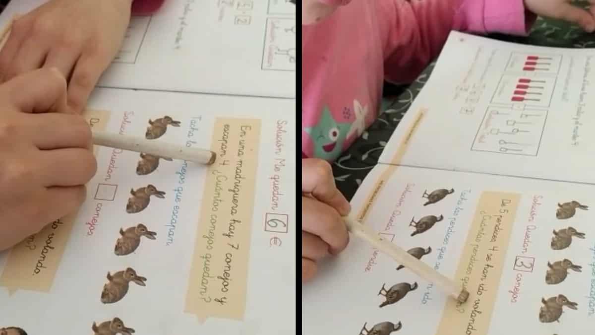 Con conejos y perdices: Así enseña matemáticas este cazador a su hija durante el confinamiento