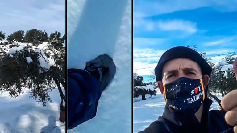 El cazador y recortador, durante el vídeo. © Facebook