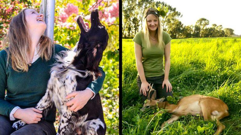 La joven cazadora víctima del odio animalista. @Facebook