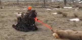 cazadora discapacitada