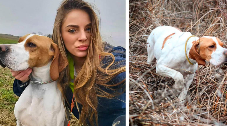 Las muestras de los perros de esta joven cazadora enamoran en Instagram