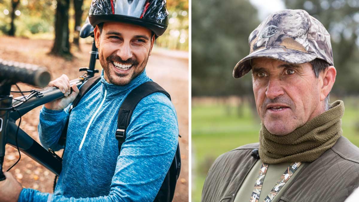 Cazadores y ciclistas se unen para pedir respeto mutuo a través de sus federaciones