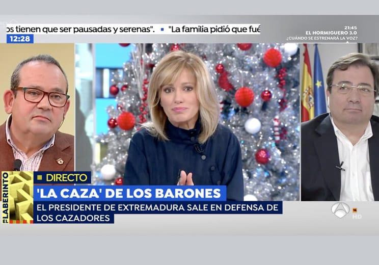 La FAC y Fernández Vara defienden la caza en un debate en Antena 3