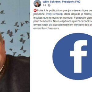 El presidente de los cazadores franceses recibe amenazas de muerte y Facebook cierra su cuenta temporalmente