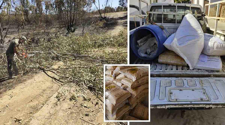 Estos cazadores se convierten en héroes: sólo ellos llevan agua y comida a los animales tras el incendio de Huelva