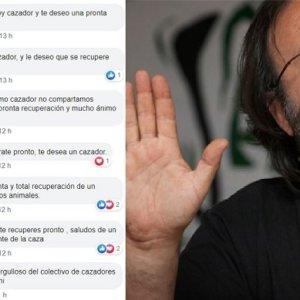 Los cazadores se solidarizan con Luis Miguel Domínguez en las redes