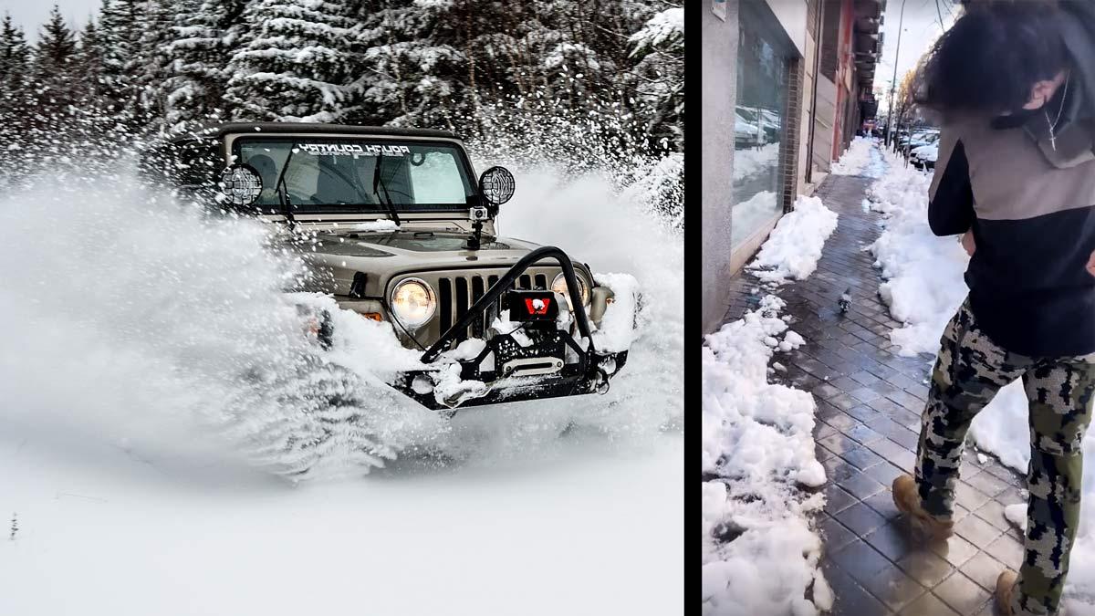 Un ejército de cazadores en 4×4 ayuda en Madrid tras la nevada: «Hemos atendido más de 400 emergencias»