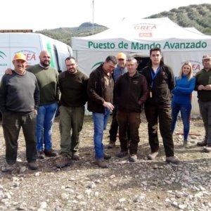 Cazadores andaluces colaboran en la búsqueda de un vecino desaparecido