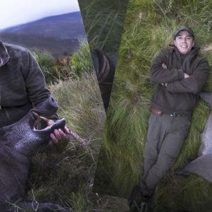Esto es caza con mayúsculas: un jabalí enorme en un entorno abierto y salvaje