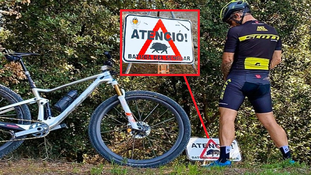El ciclista que indignó a los cazadores con esta foto pide disculpas públicamente