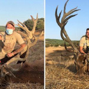 Caza un monstruoso ciervo de 25 puntas en Badajoz