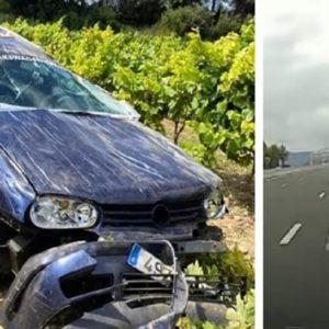 Un conductor destroza su coche al esquivar un jabalí en Barcelona