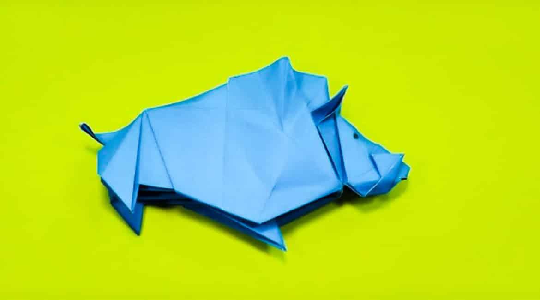 Cómo hacer un jabalí de papel paso a paso (vídeo)