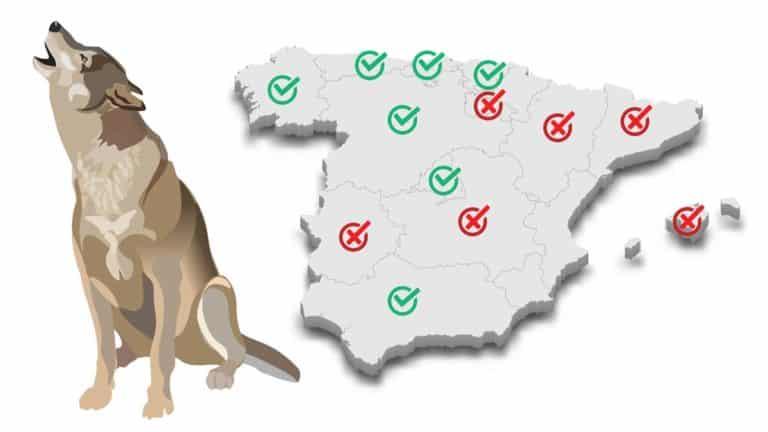 Gráfico que muestra el sentido de las votaciones a favor de la caza del lobo.