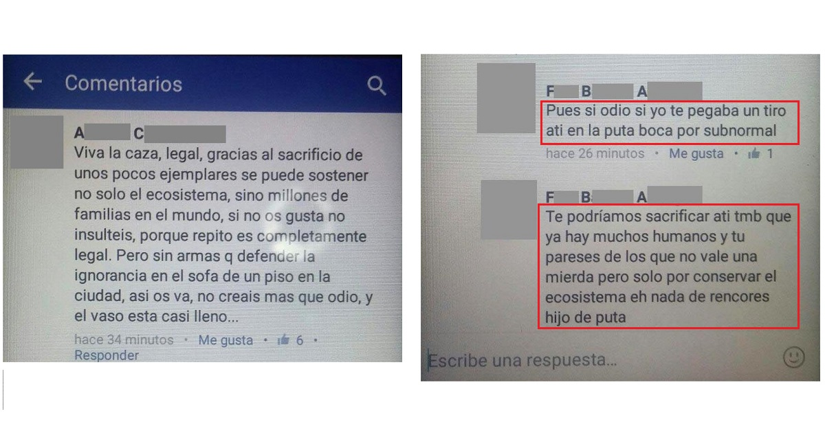 Condenado un usuario de Facebook que amenazó e insultó gravemente a un cazador