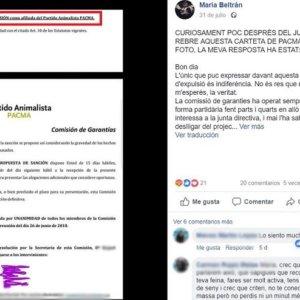 PACMA expulsa a una militante crítica con Silvia Barquero