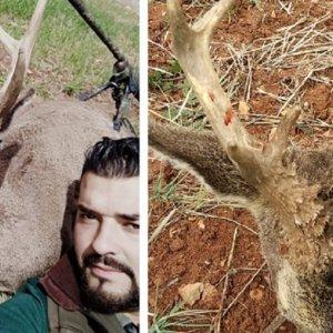 Falla un gran corzo dos veces y al final lo caza su amigo