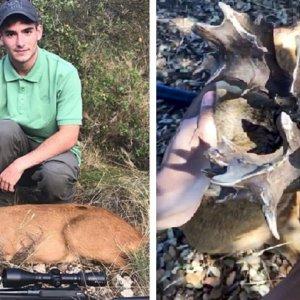 Un joven caza un corzo descomunal: «me temblaban las piernas al verlo»