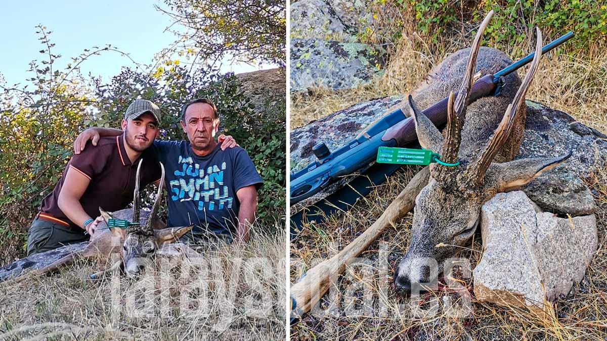 Caza un descomunal corzo con una cuerna de 30 cm: «El mejor trofeo es haberlo cazado con mi padre»