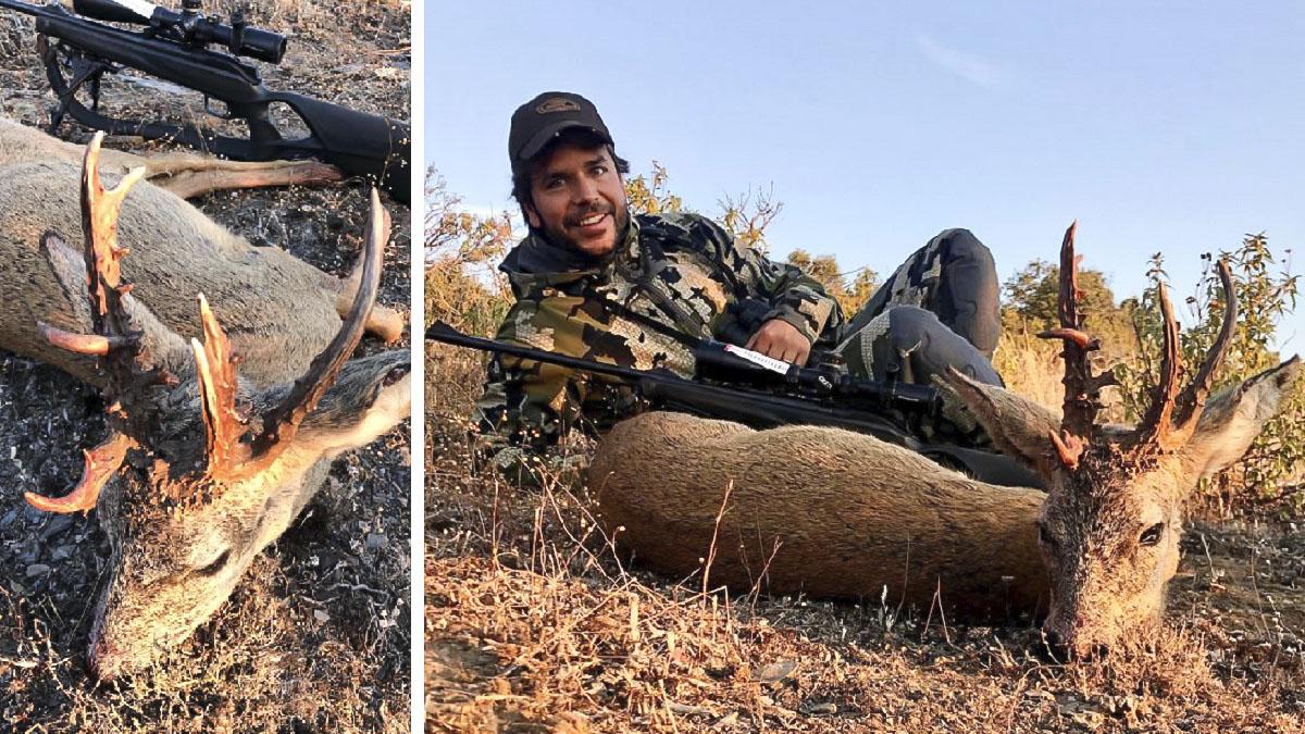 Caza un corzo en Guadalajara que sorprende a los cazadores por su inaudito trofeo