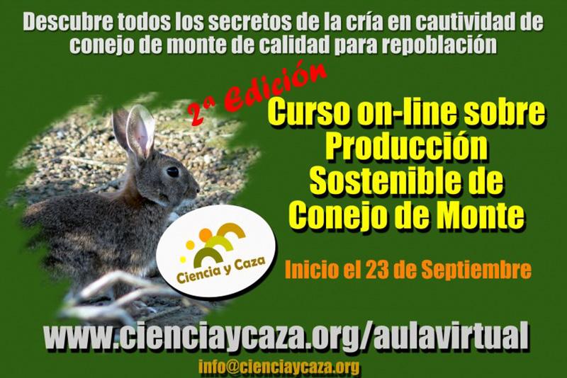 Curso on-line sobre Producción Sostenible de Conejo de Monte