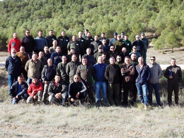 Integrantes de uno de los cursos impartidos en 2014 por la Federación de Caza de Castilla-La Mancha / Foto: fccm.es