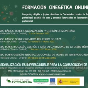 Extremadura oferta cursos gratuitos de formación para cazadores