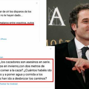 Lluvia de 'zascas' a Daniel Guzmán tras decir a los cazadores: «Mataros entre vosotros, p***s ignorantes»
