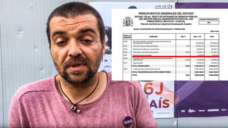 Sergio García Torres, director general de Derechos de los Animales del Gobierno de Pedro Sánchez. ©Youtube