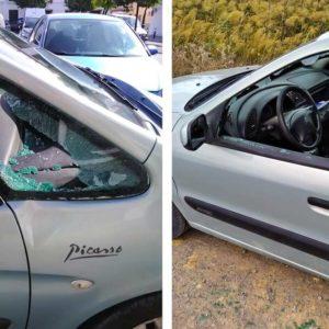 Desvalijan los coches de tres cazadores mientras estaban en su coto: «uno lo dejaron reventado»