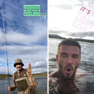 Beckham aparece de nuevo pescando en Instagram