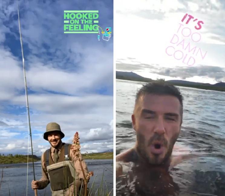 Beckham pesca