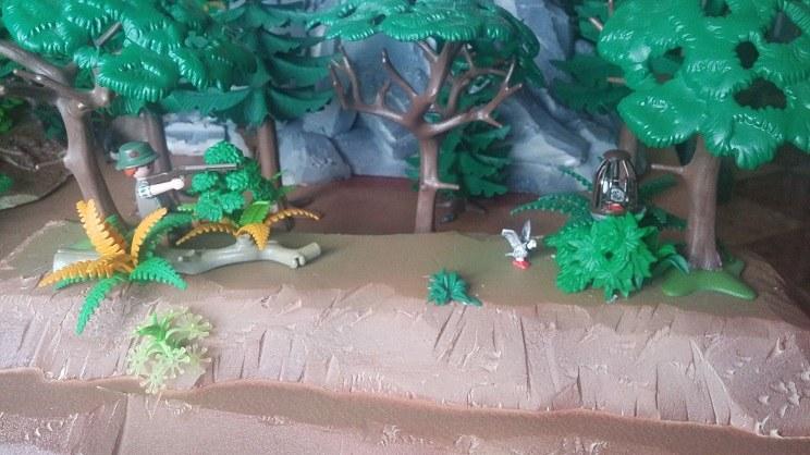 diorama playmobil cazadores 8