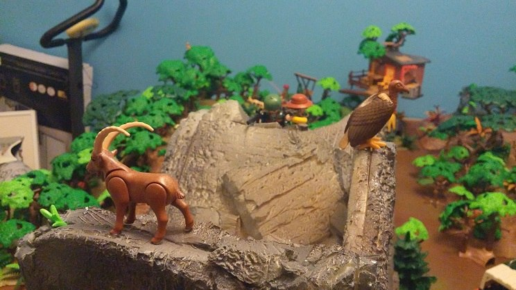 diorama playmobil cazadores 9