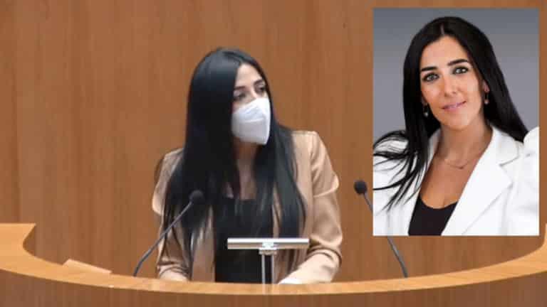 Alba Priscila Bermejo durante su intervención.