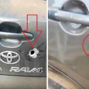 Una bala impacta en un coche en una montería y este vídeo muestra las consecuencias
