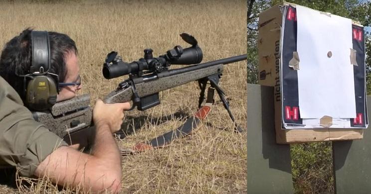 Intenta acertar a una moneda de un céntimo a 100 metros con un rifle español