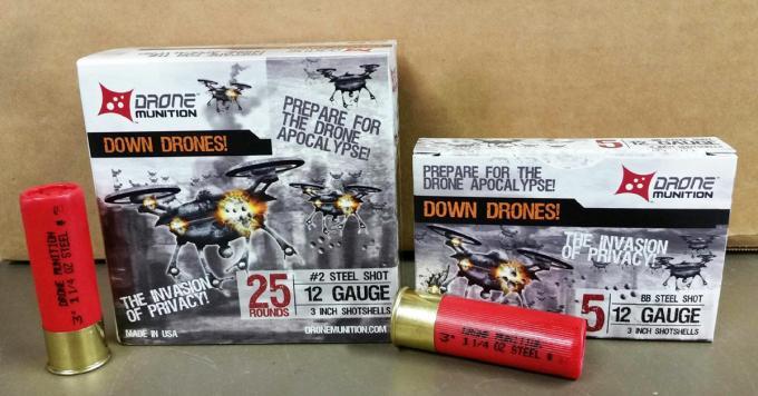 Cartuchos para derribar drones