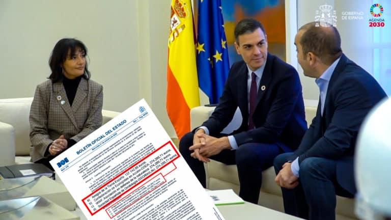 Representantes de los grupos ecologistas en una de sus reuniones con Pedro Sánchez. ©Moncloa