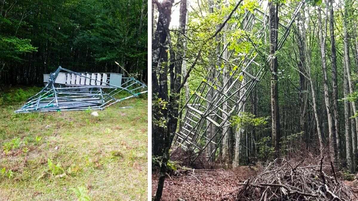 Nuevo atentado contra cazadores: destrozan varios puestos de palomas en el País Vasco
