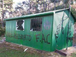 ecoterroristas atacan casetas y puestos de caza en Navarra