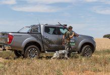 coche para cazar y pescar
