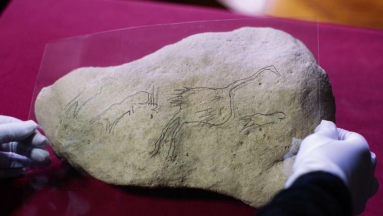 escena caza menor paleolitico