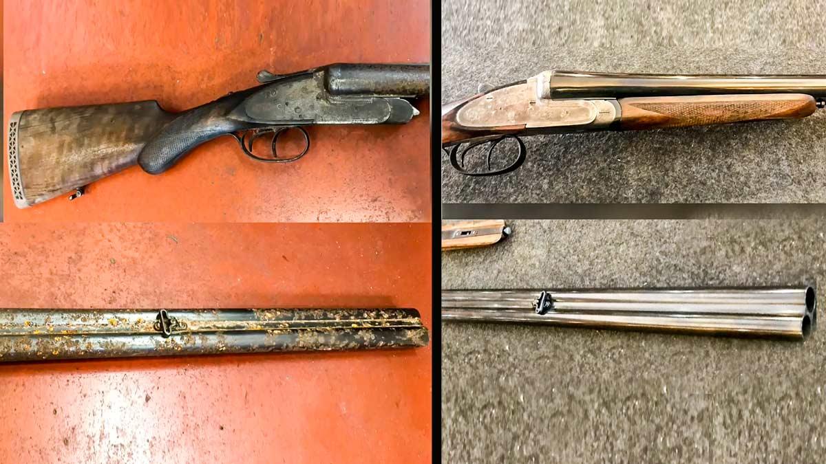 La DANA inunda su casa, destroza su escopeta de caza y este armero hace magia para restaurarla