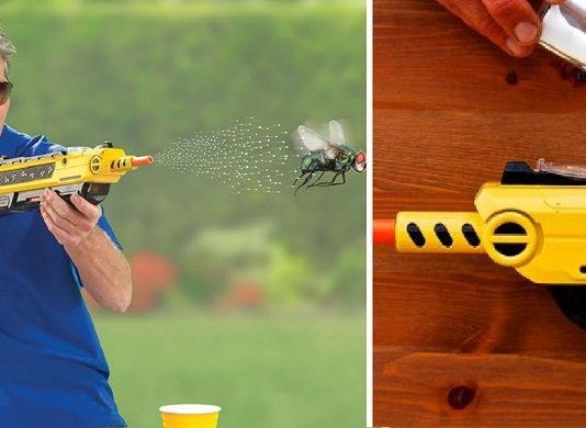 escopeta para cazar moscas