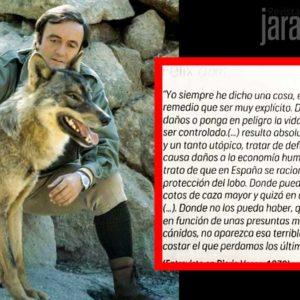 ¿Por qué Félix Rodríguez de la Fuente hubiese votado 'no' a prohibir la caza del lobo?