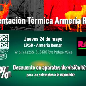Makers&Takers: Presentación de visión térmica en Armería Roman (Murcia)