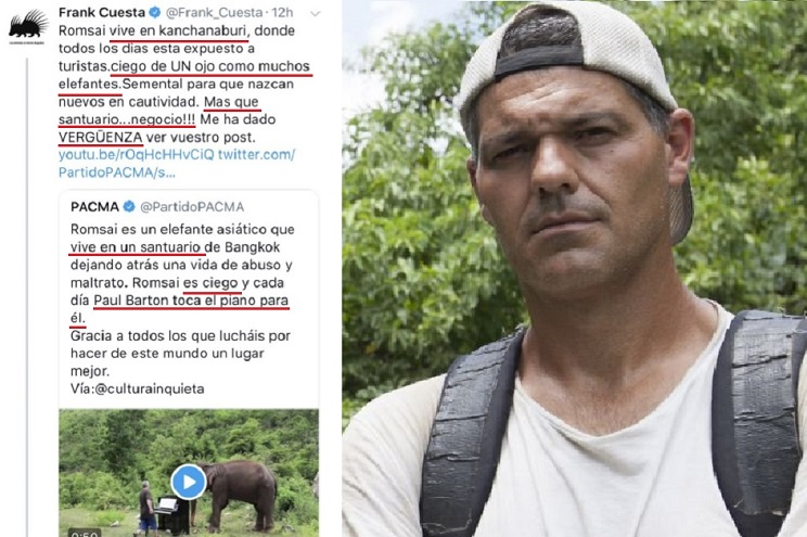 Frank Cuesta arremete contra PACMA y destapa una de sus noticias falsas