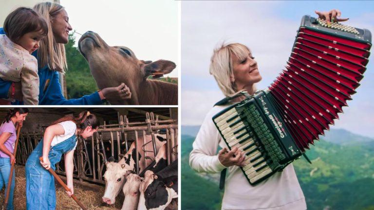 Imágenes del videoclip de la canción sobre Ganaderas Asturianas en honor a la mujer rural. /Grupo Beatriz