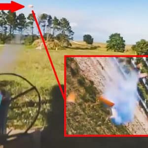 Graban con un dron que persigue a los platos esta increíble tirada